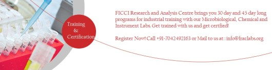 Training program schedule for food and beverage testing