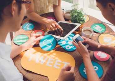 Identify social media followers' interests to deliver targeted offers