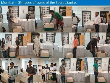 Fractal's Annual Secret Santa Campaigns in Bengaluru, Gurugram and Mumbai