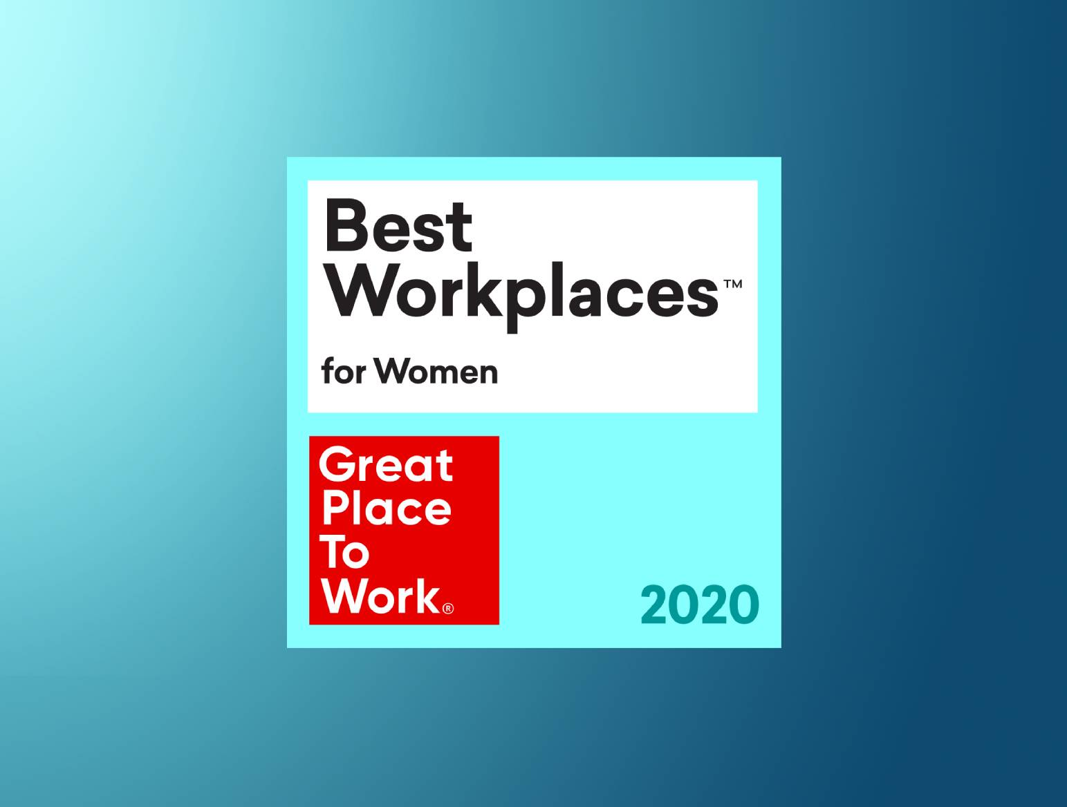 Fractal rated in the Top 100 Best Workplaces for Women in 2020 by Great Place to Work® Institute