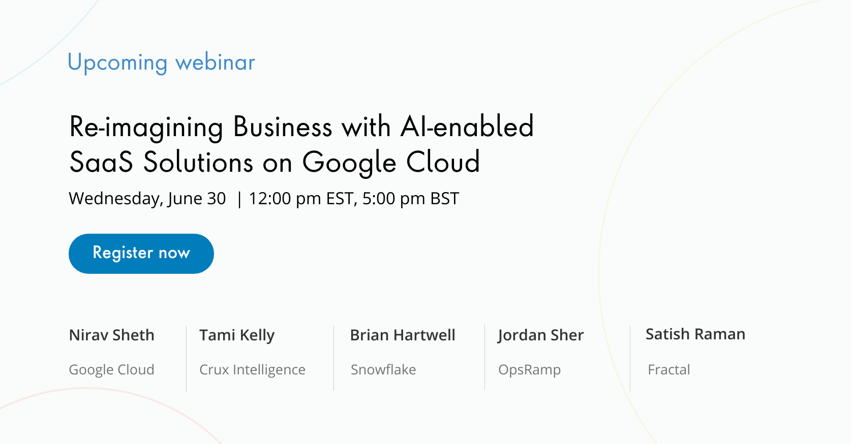 Re-imagining Business with AI-enabled SaaS Solutions on Google Cloud