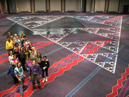 2187 Triangles assembled in 2010.