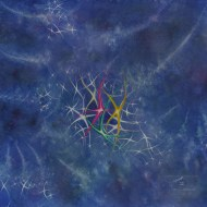 "Stardance. Watercolour on gessoed paper. 20x20"". $625.00, framed. Lianne Todd"