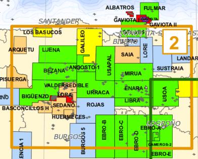 mapa sondeos ministerio