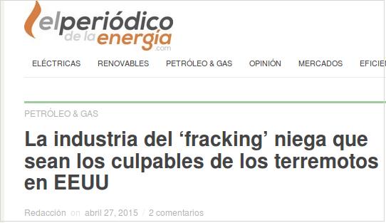 shale gas no terremotos
