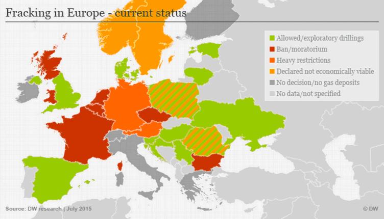 Europa Fracking prohibicion