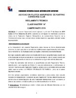 APAK REGLAMENTO CLASE 80 MASTER A 2019