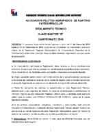 APAK REGLAMENTO CLASE 80 MASTER B 2019