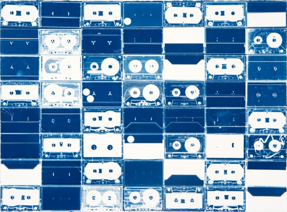 Cassette Grid No. 13, 2009, cyanotype
