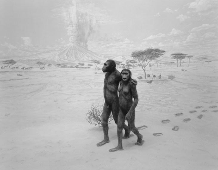 Earliest Human Relatives, 1994, gelatin-silver print