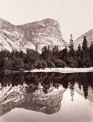 The North Dome [Fully Reflected], 1865-66, mammoth-plate albumen print