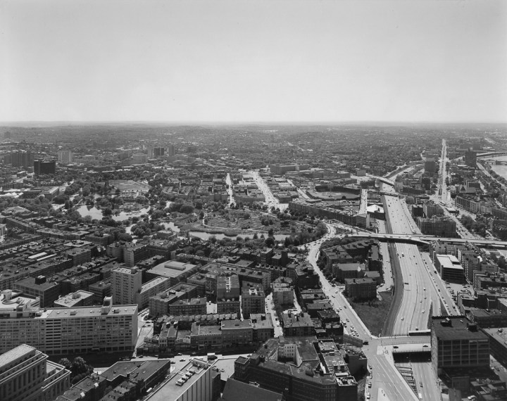 Southeast View of the Fenway Area, Boston, 1975, gelatin-silver contact print