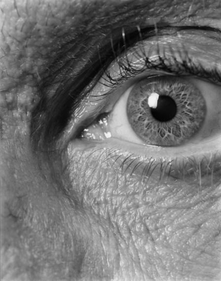 NICHOLAS NIXON, Self (09), Brookline, 2008, gelatin-silver contact print