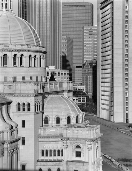 NICHOLAS NIXON, View of Christian Science Center, Boston, 2009, gelatin-silver contact print