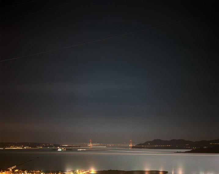 Golden Gate Bridge, 11.10.00, 12:50-3:40 am, 2000, pigment print