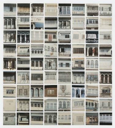 Windows, 1980, seventy-two chromogenic prints  mounted on board