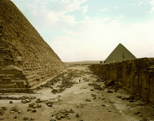 White Man Contemplating Pyramids, Egypt, 1989