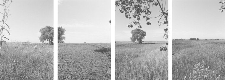 East of Longmont, Colorado, 1986, four gelatin-silver prints