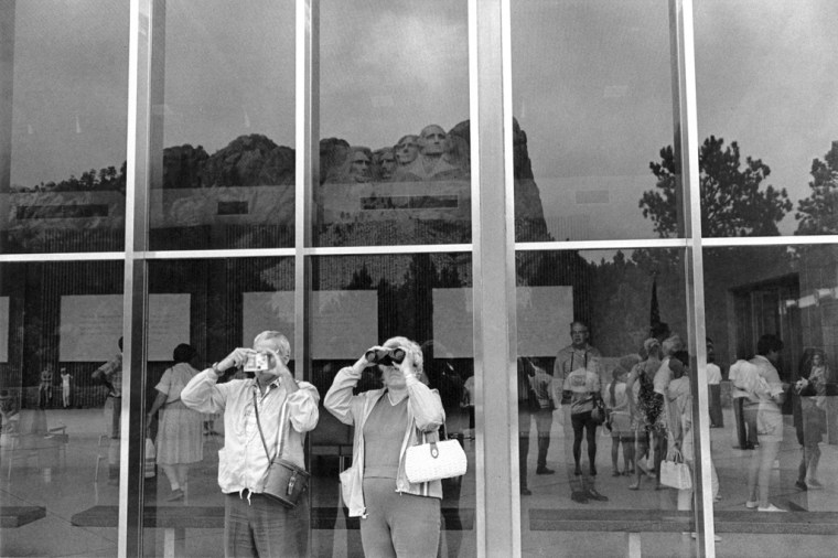 Mt. Rushmore, South Dakota, 1969, gelatin-silver print