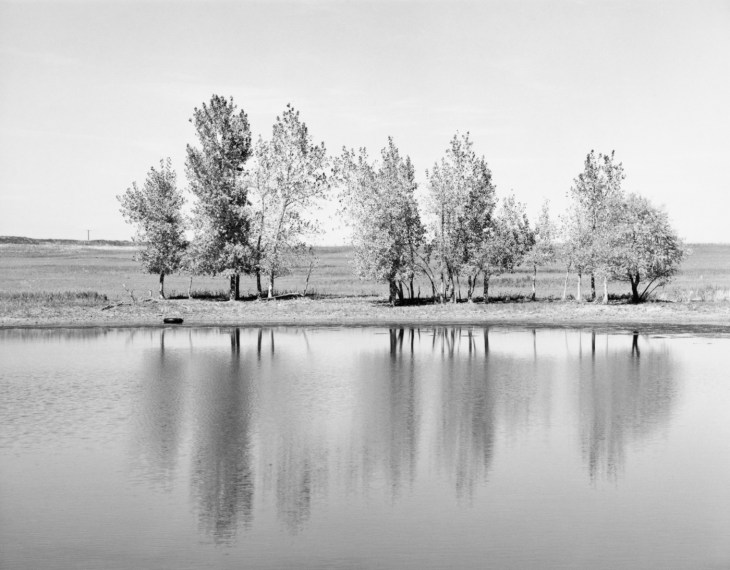 A Farm Pond about to be Destroyed by Earth Moving Machinery, Northglenn, Colorado, 1973, gelatin-silver print