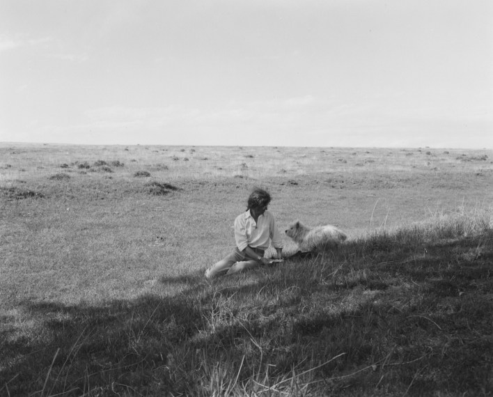 Kerstin and Sally, Pawnee Grassland,  Colorado, 1986, gelatin-silver print