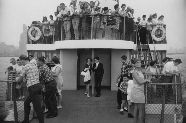 Circle Line Statue of Liberty Ferry, New York, 1971, gelatin-silver print