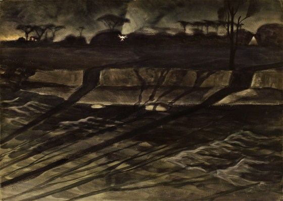 Night , ca. 1920, watercolor on paper