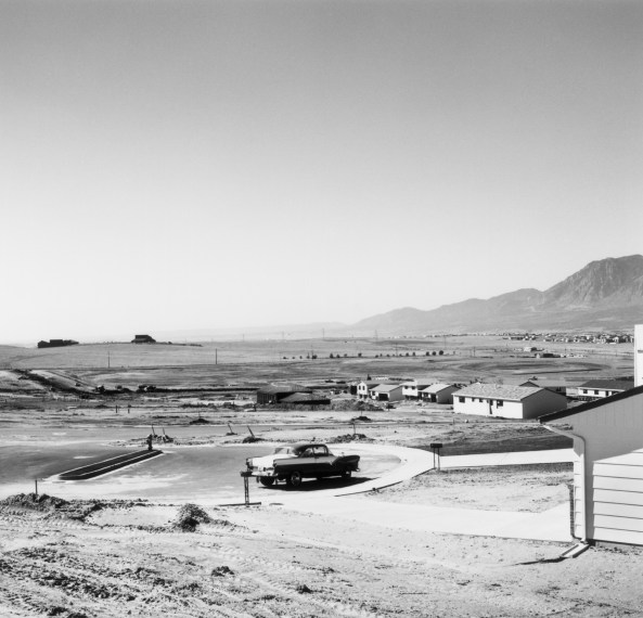 Newly occupied tract houses. Colorado Springs, Colorado, 1968, gelatin-silver print