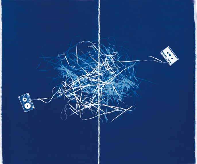 Mashup (Diptych with Two Cassettes), 2008, cyanotype