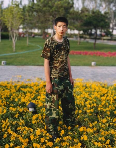 Boy in Flower Garden, Beijing, China, 2004