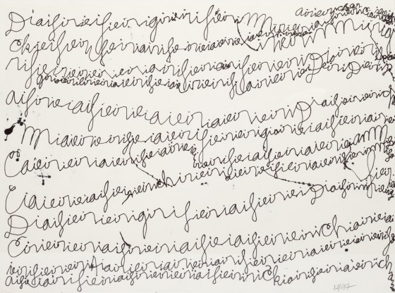 Untitled (Text), 1997, ink on paper
