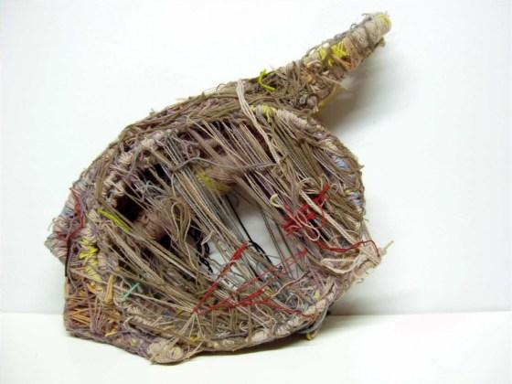 """Untitled (Circular """"harp""""), 1993, mixed media"""