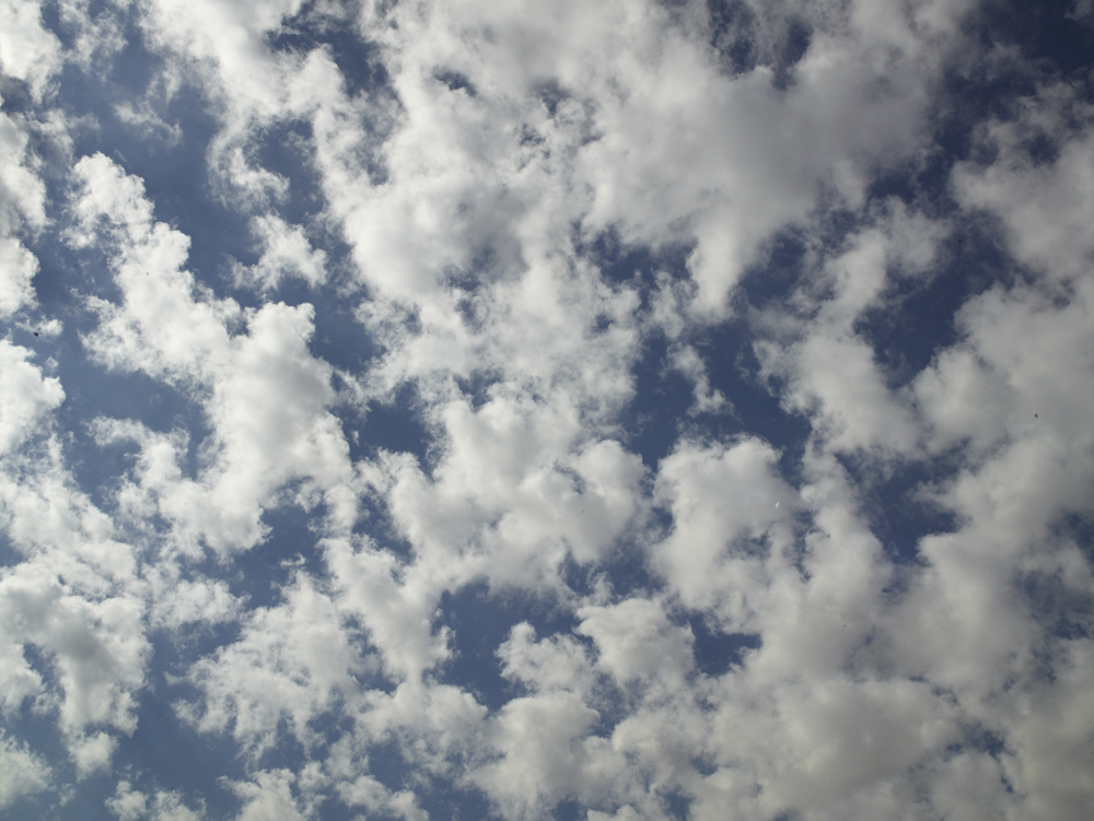 Color photograph of a cloudy sky