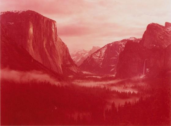 David Benjamin Sherry, Winter Sunrise over Yosemite Valley, Yosemite, California, 2013, Traditional color darkroom photograph