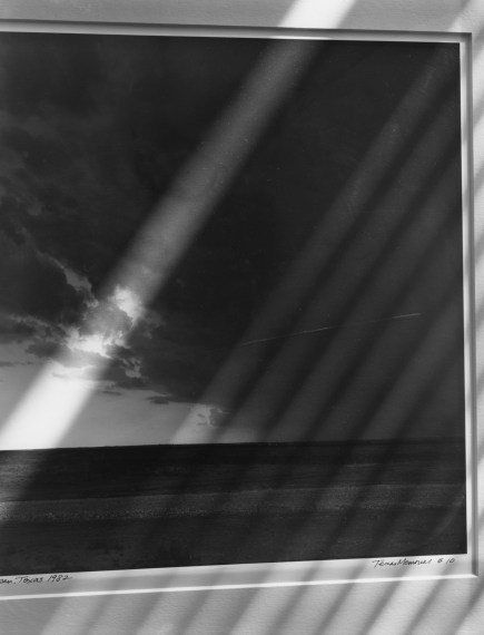 NICHOLAS NIXON, Detail of Frank Gohlke's Texas Landscape, Brookline , 2016, gelatin-silver contact print