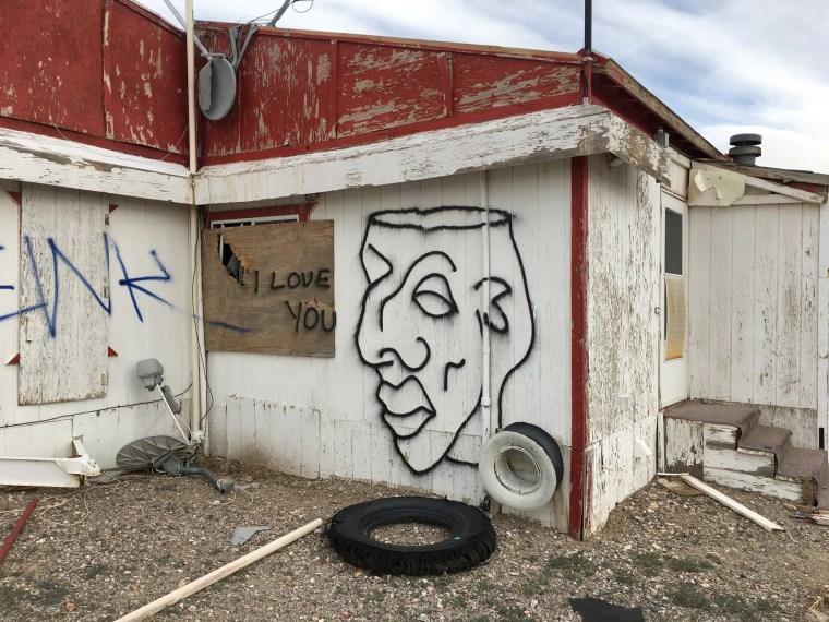 """I love you,"" Goldfield, Nevada, 2017"