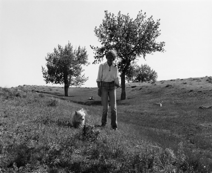 Kerstin and Sally, the Pawnee National Grassland, Colorado, 1984, gelatin-silver print