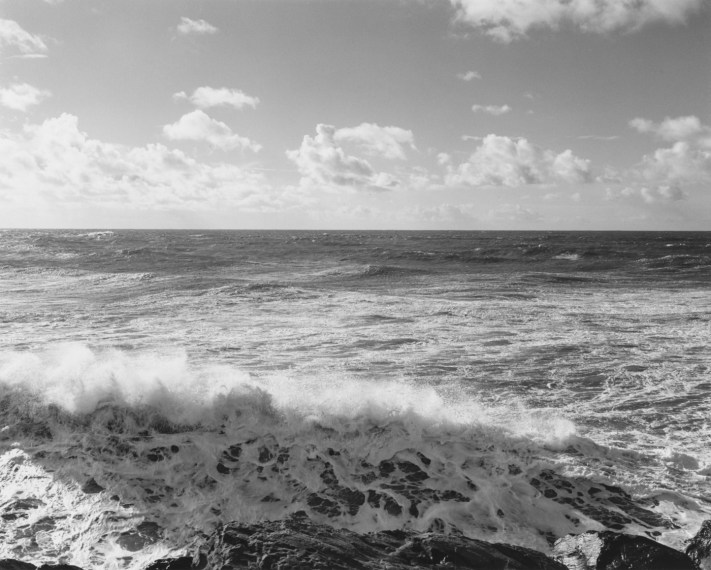 Winter. Southwest from the South Jetty, Clatsop County, Oregon, 1991, gelatin-silver print