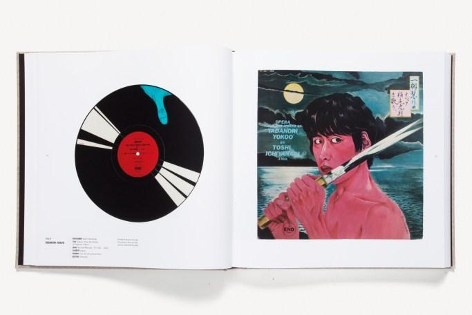 Open book of vinyl records