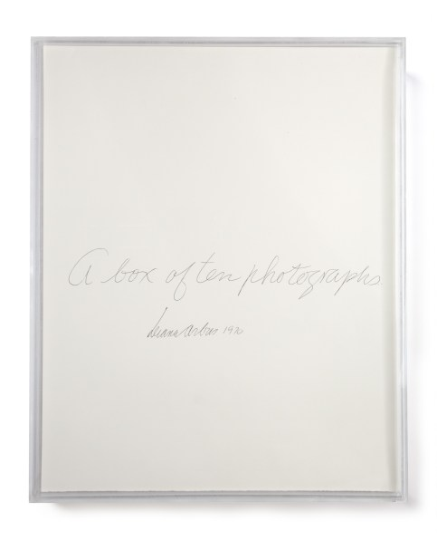 Photo of a portfolio cursive writing on the front