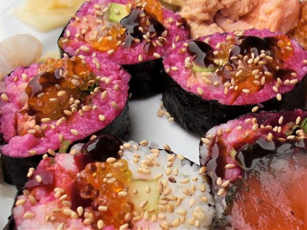 Koreanisches Sushi mit fränkischen Fischen