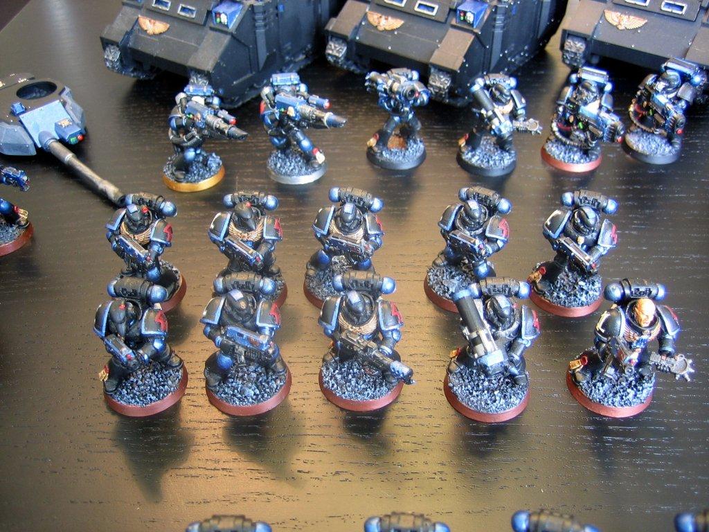 Space Marine Army Fragged