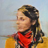 Cecilia Burgues, El viento mehabía comido parte de la cara y las menos, 2016