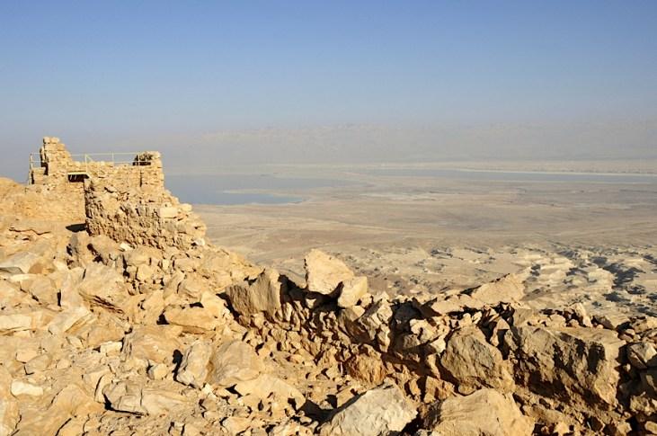Izrael-zwiedzanie twierdzy Masada 011