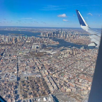 002 Nowy Jork z samolotu