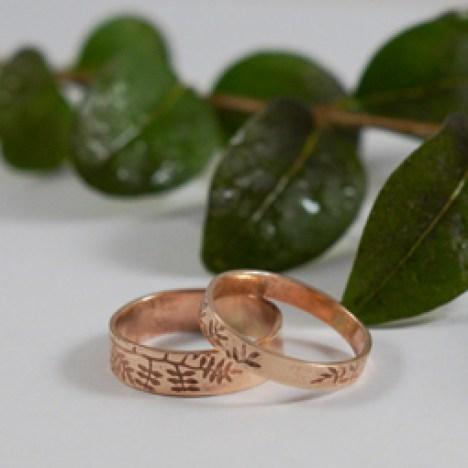 Sarah Jane Egan 72 Rose Gold Ash Wedding Rings