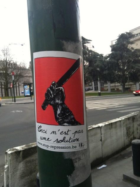 Bruxelles_sticker_2013_pas une solution