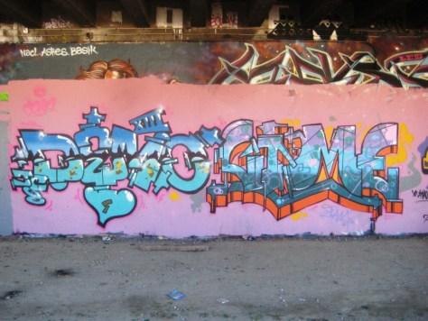 Demo, Sime - graffiti - besancon, sept2013