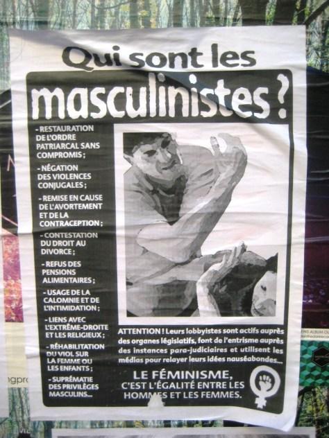 besancon, dec 2013 affiche qui sont les masculinistes