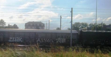 zuik, adyos, temp - graffiti - train - strasbourg 2013